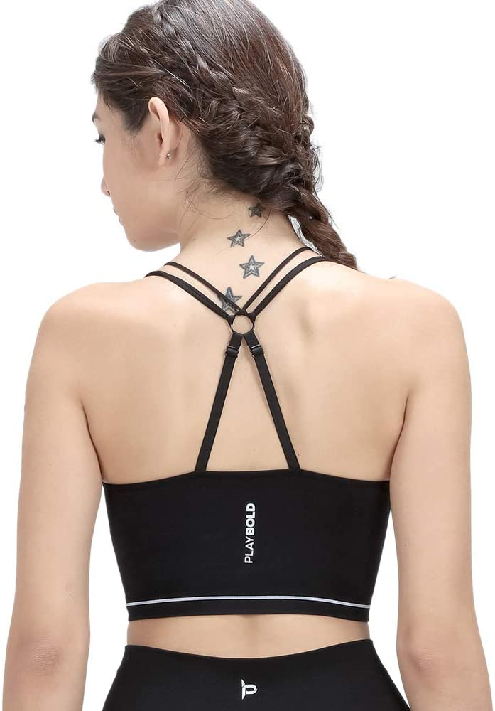 Girls Sports Bra Workout Bra Criss Cross Bralette Adjustable