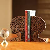 Craftedindia Carved Tree Design Wooden Book Holder