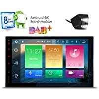 XTRONS Octa-Core 64bit 7 Inch Android 6.0 HD Digital Multi-touch Screen Car Stereo GPS Radio 1080P Video Screen Mirroring OBD2 Double 2 Din Reversing Camera Included