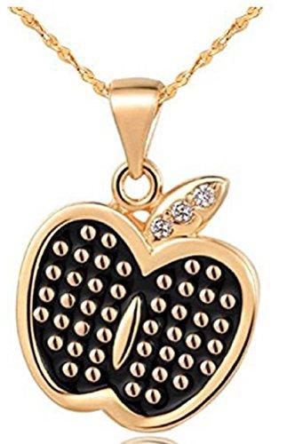 findout dames en argent sterling collier pendentif opale pomme, pour les femmes les filles, (F003)