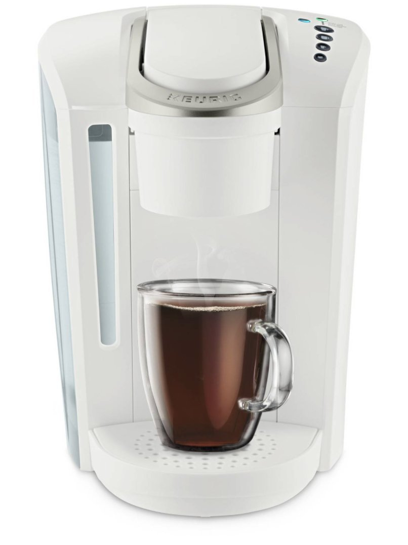 Keurig K-Select Coffee Maker, Single Serve K-Cup Pod Coffee Brewer, With Strength Control and Hot Water On Demand, Matte White by Keurig