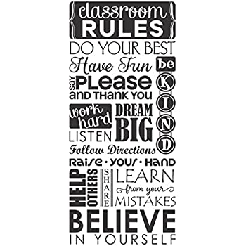 Wall decor plus more wdpm3575 bathroom wall decals vinyl stickers wall decor plus more wdpm3751 classroom rules subway art teacher wall decals letters vinyl stickers 36 x 15 black solutioingenieria Image collections