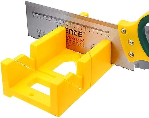 Drillpro - Caja de sierra de inglete multifuncional, 45/90 grados ...
