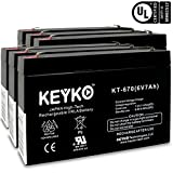 ELSAR 2316 6V7Ah / REAL 7.0 Amp Battery AGM / SLA Sealed Lead Acid Genuine KEYKO Replacement - F1 Terminal - 6 Pack