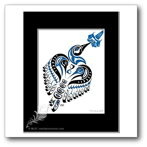 Matriarch - Pacific Northwest Coast Tribal Style Hummingbird Art Print (The First Nations Of The Pacific Coast)