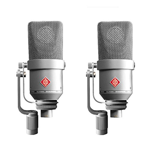 Neumann TLM 170 R Stereo | Factory Matched Multi Pattern Large Diaphragm Condenser Microphone Set Nickel by Neumann
