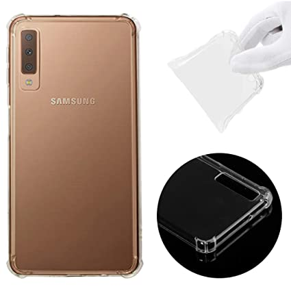 CoverTpu Funda Samsung Galaxy A7 2018 Transparente Silicona ...