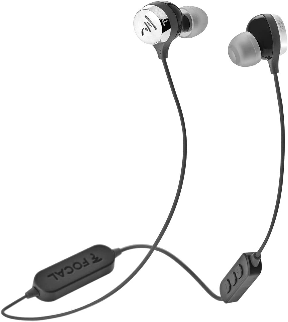 Focal Sphear Wireless Earbuds with Three-Button Remote and Microphone Black