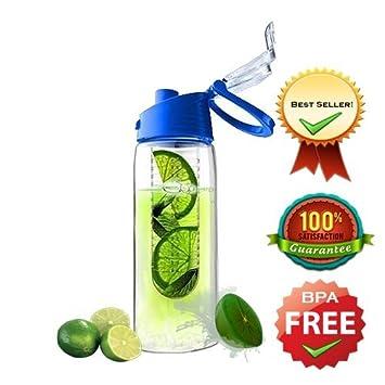 TRUTECH la gran Base de 800 ml sin BPA botella de agua dulce fruta Infusing –