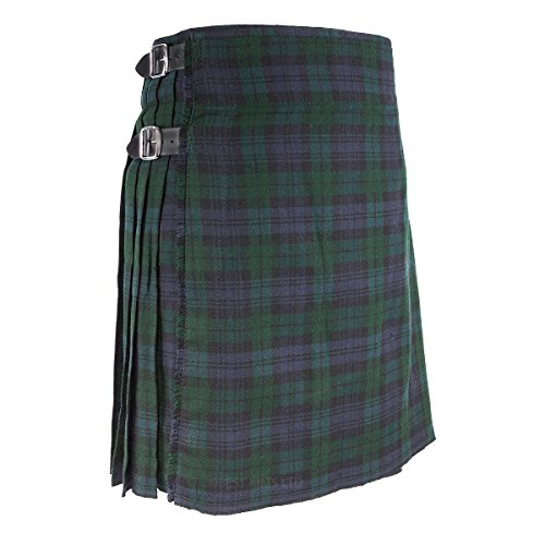 Best Kilts Men's Traditional Scottish 5 Yard Black Watch Tartan Kilt (Black Watch Kilt)