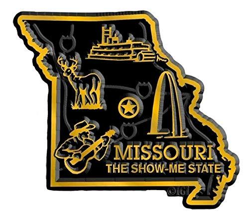 (Missouri State Map Fridge Magnet)