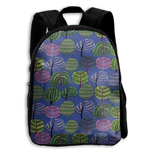 Lovely Broadleaf Trees Kid Boys Girls Toddler Pre School Backpack Bags (Broadleaf Sage)
