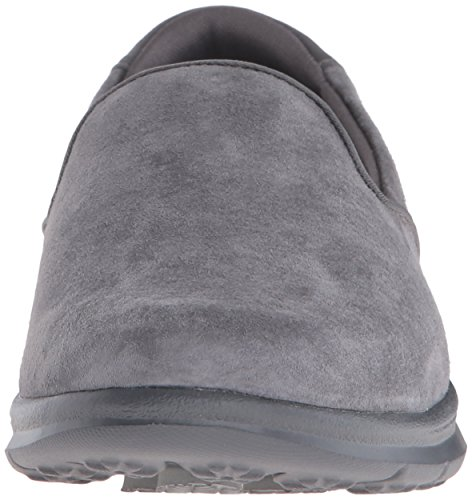 Skechers Performance Go de La Mujer Paso Untouched Walking Zapatos Charcoal Suede