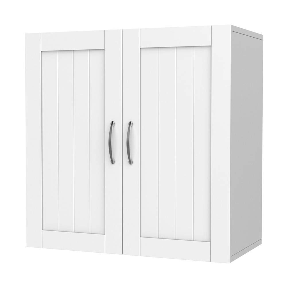 Yaheetech Bathroom Medicine Cabinet 2 Door Wall Mounted Storage Cabinet with Adjustable Shelf, 23.4'' L x 12.2'' W x 23.5'' H, White