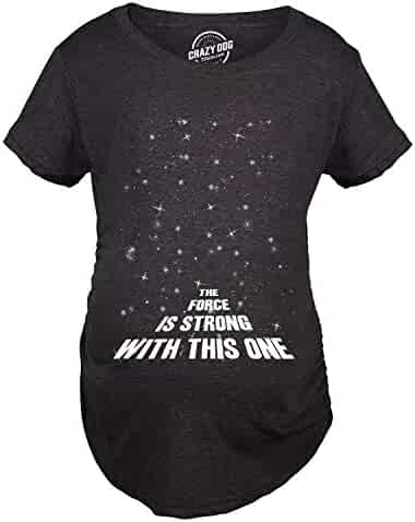 ad2ff5bc Maternity Force is Strong Funny Pregnancy T-Shirt for Expecting Mothers