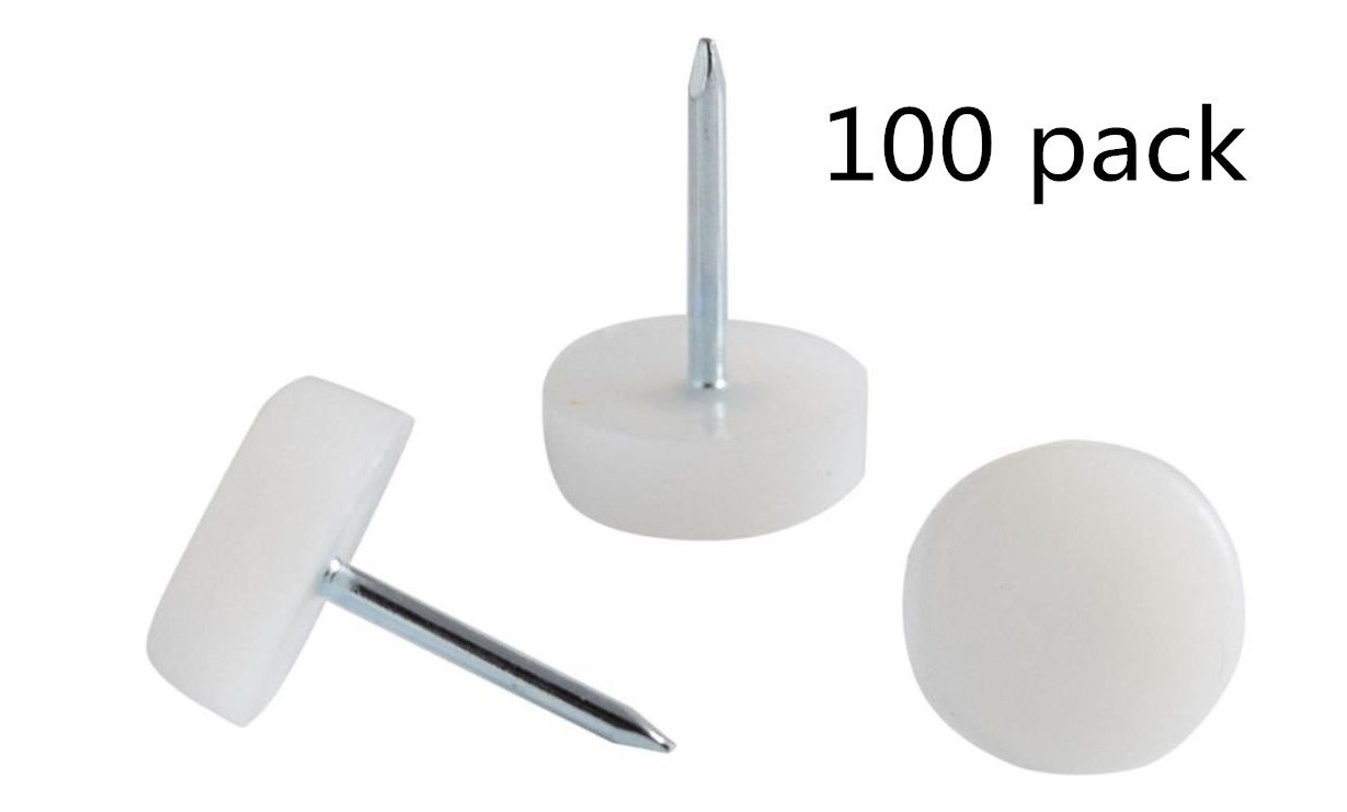 5/8'' Dia. Felt Nail-on Slider Glide Pads for Chairs, Stools, & Tables - Furniture Slides Like Magic -Tile & Hard Wood Floor Protector - Espresso - 100 pcs.