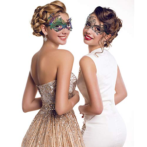 Mask Women's Lace Eye Mask for Masquerade Party Prom Ball Halloween ()