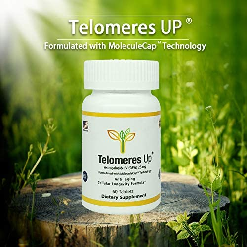 Telomeres Up with 98 Astragaloside IV-Tripled Absorption, USA Manufactured GMP Anti-Aging Supplement