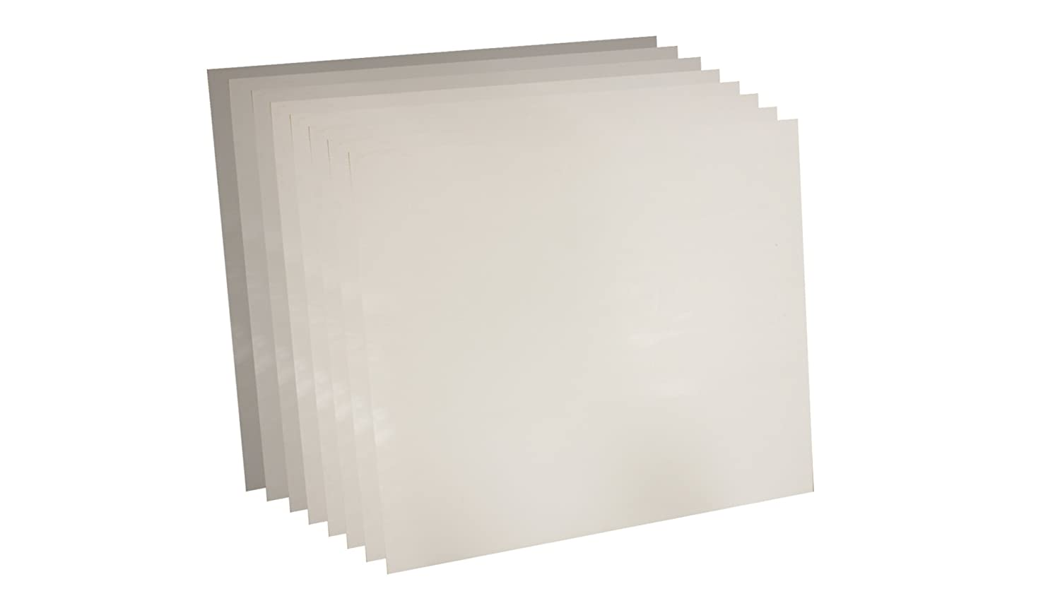 Pack of 8 12 x 12 1//64 Thick Sterling Seal 7530.015612x12x8 White Virgin Teflon 7530 Sheet