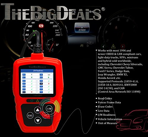 THEBIGDEALS T001OBD OBD II Scanner Car Engine Fault Code Reader CAN Diagnostic Scan Tool OBD2 scanner by THEBIGDEALS (Image #4)'