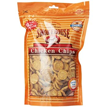 Smokehouse 100-Percent Natural Chicken Chips Dog Treats, 16-Ounce