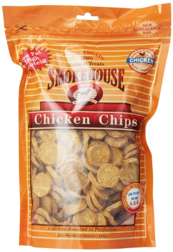 Smokehouse 100-Percent Natural Chicken Chips Dog Treats, 16-Ounce 100% Natural Chicken Breast