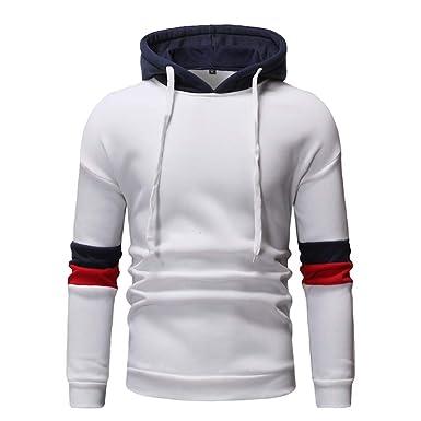 17d9a3808b Roiper Sweatshirt Homme, Sweat-Shirt à Capuche Homme Manches Longues Hiver  Slim Fit Automne Plaid à Manches Longues Hooded Sweat-Shirt Top: Amazon.fr:  ...