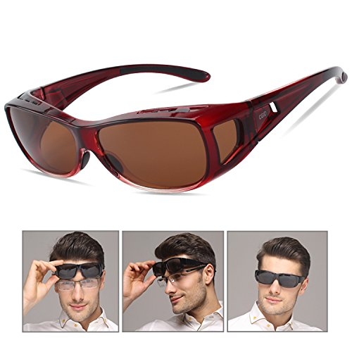 CGID Sunglasses Wear Over Prescription Glasses Rx Glasses Wrap Around Polarized Sunglasses - Sunglasses Prescription Rx