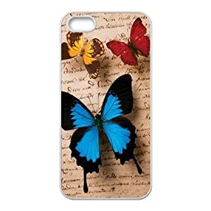 Butterfly DIY Cover Case for Iphone 5,5S,personalized phone case ygtg523261