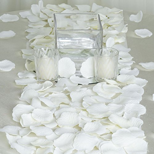 BalsaCircle 2000 Ivory Silk Artificial Rose Petals Wedding Ceremony Flower Scatter Tables Decorations Bulk Supplies Wholesale