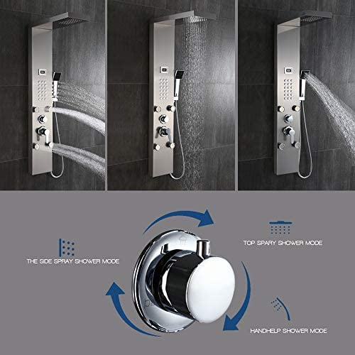 Panel de ducha Auralum dusc hamatur de lujo - sistema de ducha de ...