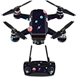 MightySkins Skin For DJI Spark Drone & Controller - Bright Night Sky | Protective, Durable, and Unique Vinyl Decal wrap cover | Easy To Apply, Remove, and Change Styles | Made in the USA