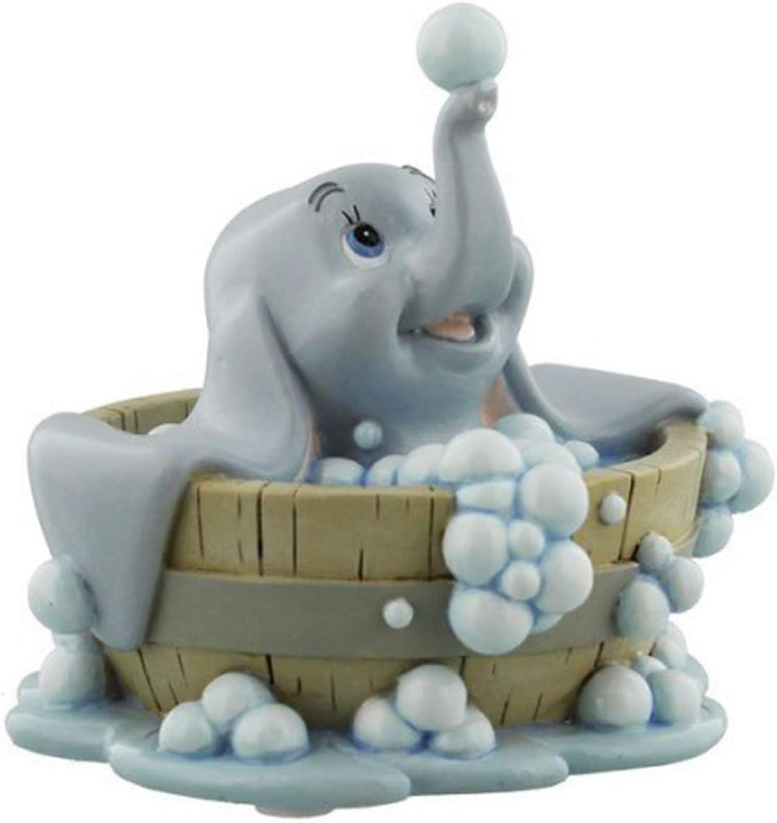 Q2058 - Figurine r/ésine Dumbo dans Son Bain Les Tr/ésors De Lily Disney 11x10 cm