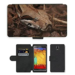 PU LEATHER case coque housse smartphone Flip bag Cover protection // M00130026 Serpiente Zoo Animal // Samsung Galaxy Note 3 III N9000 N9002 N9005