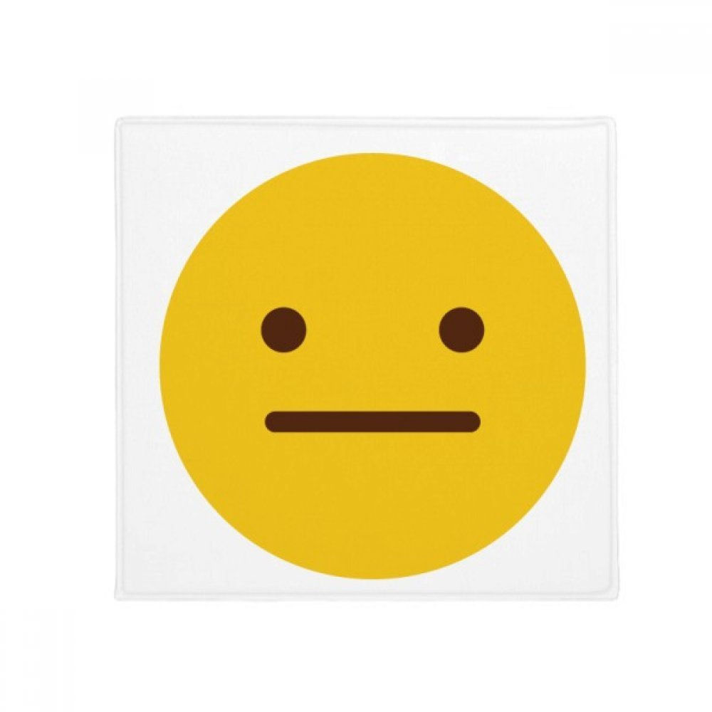 DiYthinker Speechless Yellow Cute Online Chat Emoji Anti -Slip Floor Pet Mat Square Home Kitchen Door 80Cm Gift