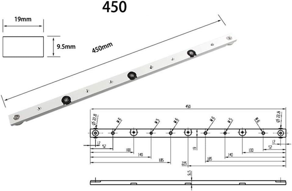 rail T 300mm T-Slot Piste en Alliage dAluminium T-Track pour Scie /à Table de Bois ou de Routeur