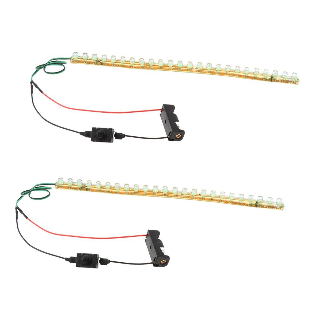Toygogo 1 Pair Roller Skates/Inline Skates LED Light Bar 24cm - Green by Toygogo