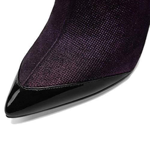 Fermeture Portable ZPEDY Confort Red Chaussures Pointues Femmes pour Mode Talons Hauts éclair YaqvY