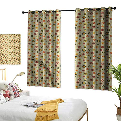 G Idle Sky Polyester Curtain Abstract Decor Curtains by Bullseye Circle Shapes 55