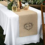 True Love Burlap Table Runner - 14in. X 120in. - Set of 5