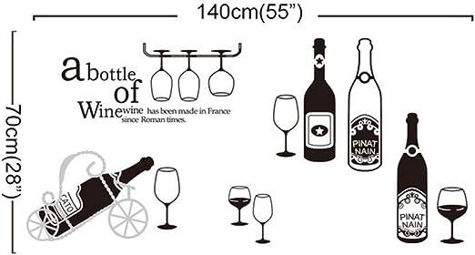 ufengke Pegatinas De Pared Cocina Copas de Vino Tinto Vinilos Adhesivos Pared Champagne Vaso para Dormitorio Sal/ón Oficina Habitaci/ón
