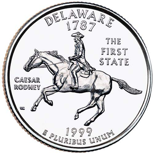 1999 S Silver Proof Deleware State Quarter Choice Uncirculated US Mint