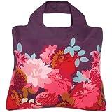 Envirosax The Original Designer Reusable Shopping Bag - Purple with Peonies