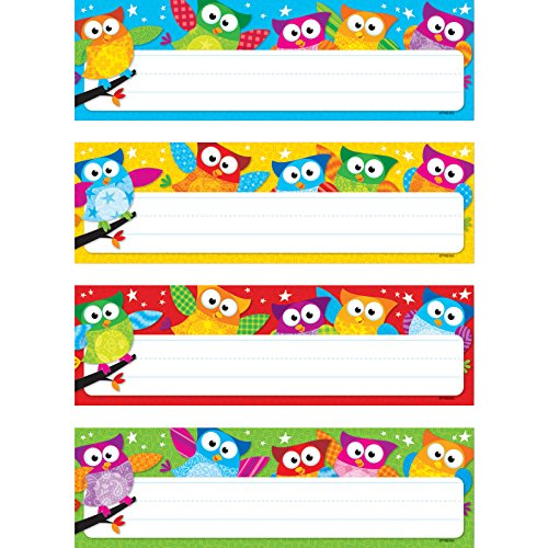 TREND enterprises, Inc. Owl-Stars! Desk Toppers Name Plates VAR. Pk, 32 ct]()