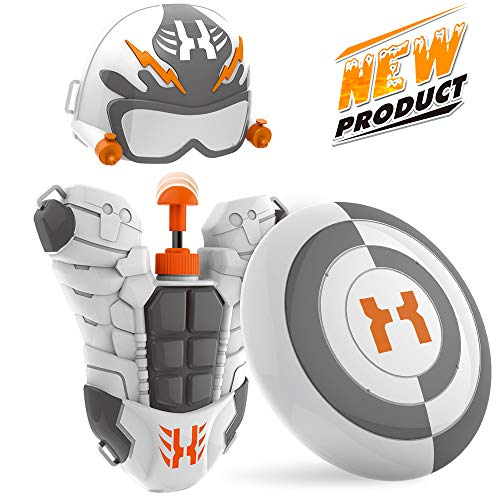 WisToyz Water Gun Squirt Gun Superhero Backpack, Water Blaster Toy Water Guns for Kids, Toddlers, Boys and Girls, Squirt Toys with Large Capacity Long Range, Best Summer Toys Beach Toys Gifts]()