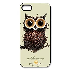 DiyCaseStore Coffee Bean Owl iPhone 5 5S Hard Case Cover Protector Christmas Gift Idea
