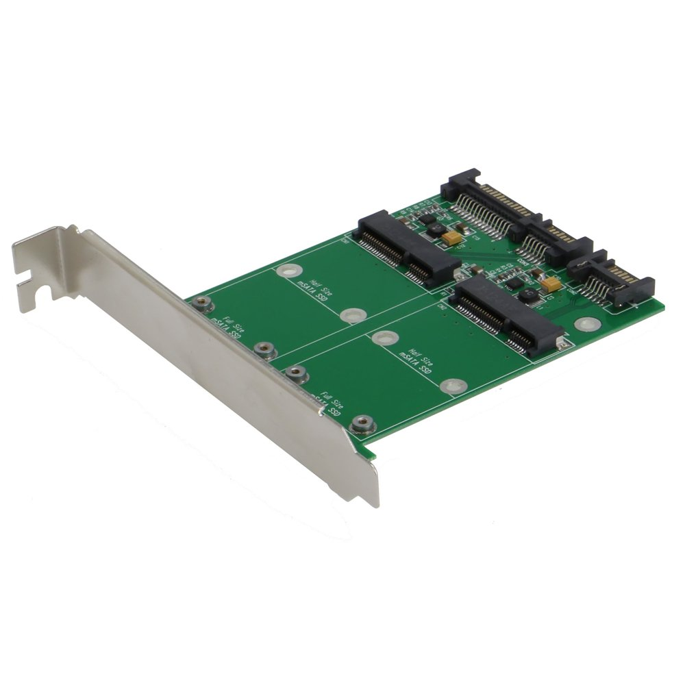 SEDNA - PCI/PCIe Mounting Adapter for Dual mSATA SSD ( SATA