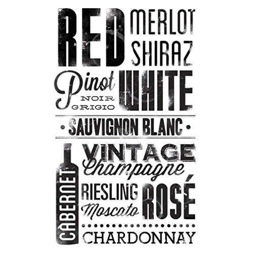 Lunarland WINE 22 Wall Decals Words Quotes Brands Room Decor Stickers MERLOT RED BOTTLE 49