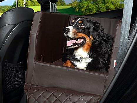 Coche cama para perros, asiento trasero - Manta, Auto ya, también en visco elástica, color marrón: Amazon.es: Productos para mascotas