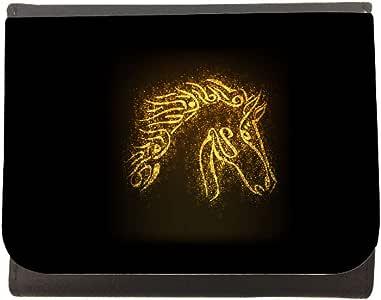 محفظة جلد  بتصميم شكل حصان  ، مقاس 12cm X 10cm
